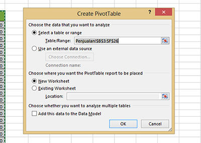 Analisa Data Pivot Table