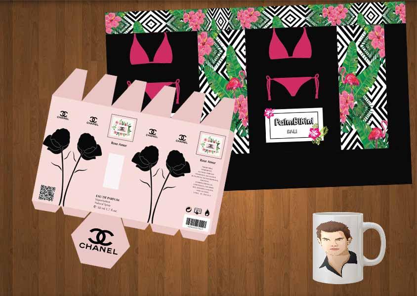 Kursus Komputer, Desain Grafis, Adobe Illustrator, Paperbag, Vector Face, Packaging