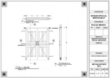 Menggambar Detail Pintu dengan AutoCAD