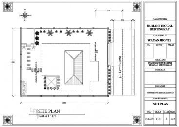 Gambar Site Plan dengan AutoCad