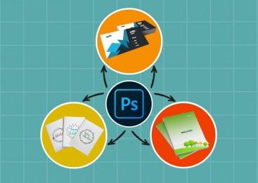 Kursus Desain Grafis untuk Anak, Photoshop, Kartu nama, Sampul Buku