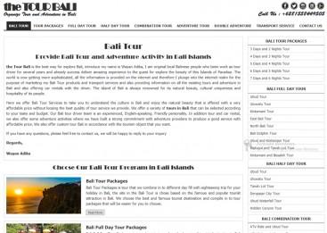 web responsive untuk promosi jasa tour di Bali