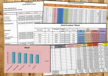 Kursus Excel di Bali, Membuat Laporan penggajian dengan Excel