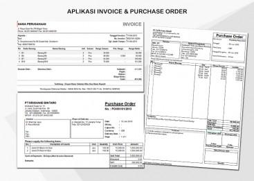 Aplikasi Invoive, Purchase Order di Excel
