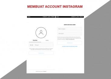 Kursus Internet Marketing, Membuat Account IG