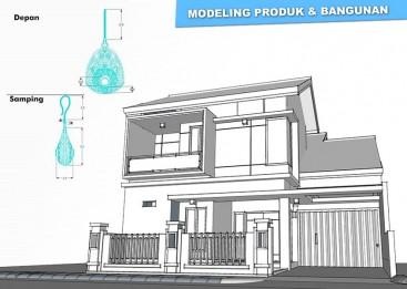 Modeling bangunan dan produk dengan sketchup