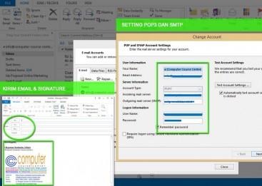 Kursus Outlook di Denpasar, Mengirim email dengan outlook