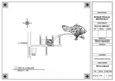 Peta Lokasi dengan AutoCAD