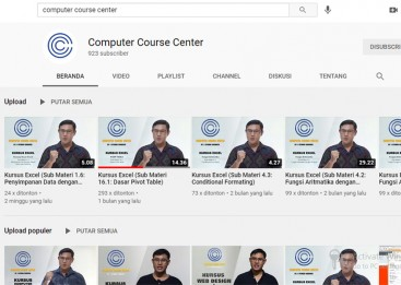 Kursus Internet Marketing, Membuat Channel Youtube
