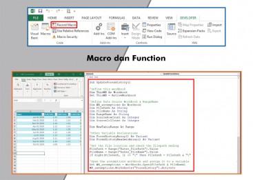Pelatihan Excel , Training Excel, Macro